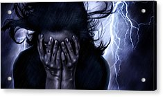 Stricken Acrylic Print by Laurie Hasan