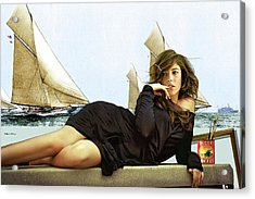Art Models Wanted, Strike A Pose, Folgers Coffee, The Artist Salon, Lucy Bayet Acrylic Print