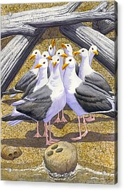 Strike Acrylic Print by Catherine G McElroy
