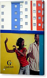 Stripe Dance Acrylic Print by Jez C Self