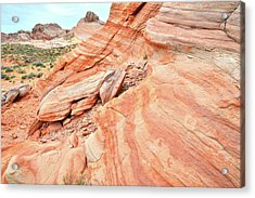 Acrylic Print featuring the photograph Striped Sandstone Along Park Road In Valley Of Fire by Ray Mathis