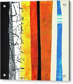Acrylic Print featuring the mixed media Stripes by Elena Nosyreva