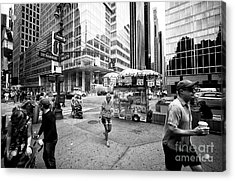 Acrylic Print featuring the photograph Stripes In The City by John Rizzuto