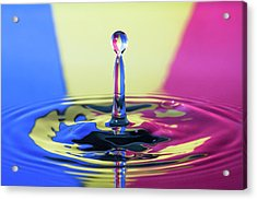 Stripped Water Drop Acrylic Print