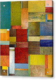 Strips And Pieces L Acrylic Print by Michelle Calkins