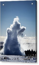 Acrylic Print featuring the photograph Strokkur Geyser In Iceland by Matthias Hauser