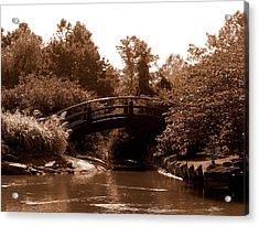 Stroll Garden Bridge Acrylic Print by Audrey Venute