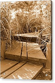 Stroll Garden Walkway Acrylic Print by Audrey Venute