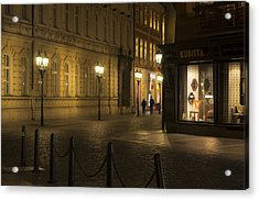 Stroll In Prague's Evening Acrylic Print by Marek Boguszak