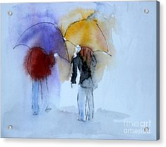 Strolling In The Rain Acrylic Print