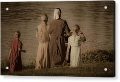 Strolling Seamstress Family Acrylic Print