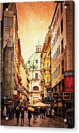 A Rainy Day In Vienna Acrylic Print