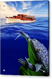 Strong Cross Currents And A Vicious Undertoad Acrylic Print by Dominic Piperata