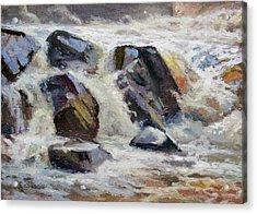 Strong Falls Plein Air Demo Acrylic Print by Larry Seiler