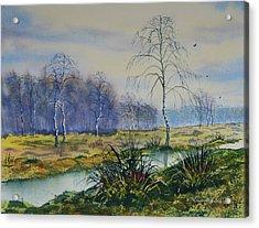 Stream In Flood On Strensall Common Acrylic Print