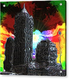 Acrylic Print featuring the photograph Structural Dissonance by Iowan Stone-Flowers