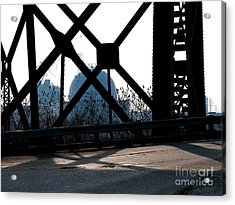 Structural Members Acrylic Print by Donna Stewart