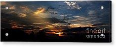 Struggling Sun Acrylic Print by James F Towne