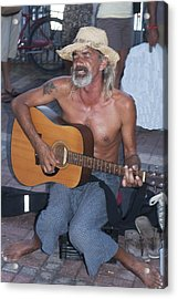 Strumming A Tune In Key West Acrylic Print by Carl Purcell