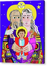 Sts. Ann And Joachim, Grandparents With Jesus - Mmjag Acrylic Print