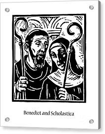 Sts. Benedict And Scholastica - Jlbas Acrylic Print