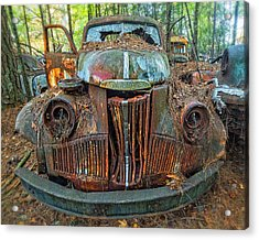 Studebaker With Broken Glass Acrylic Print
