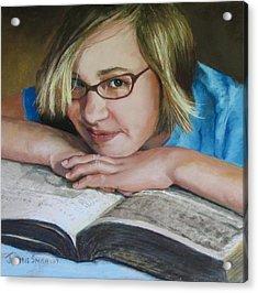 Study Break Acrylic Print by Jeanne Rosier Smith