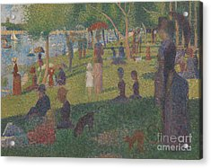 Study For A Sunday On La Grande Jatte, 1884 Acrylic Print by Georges Pierre Seurat