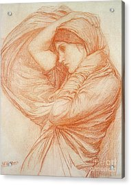 Study For Boreas Acrylic Print by John William Waterhouse