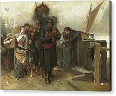 Study For Deserted  A Foundling Acrylic Print by Frank Holl