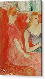 Study For In The Salon On The Rue Des Moulins Acrylic Print by Henri de Toulouse-Lautrec