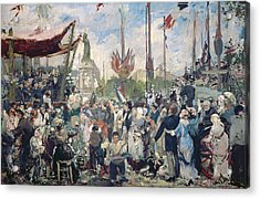 Study For Le 14 Juillet 1880 Acrylic Print