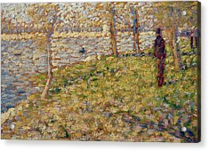 Study For Sunday Afternoon On The Island Of La Grand Jatte Acrylic Print by Georges Pierre Seurat
