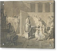 Study For The Lictors Bringing Brutus The Bodies Of His Sons Acrylic Print