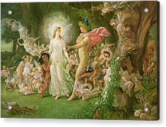 Study For The Quarrel Of Oberon And Titania Acrylic Print