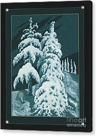 Acrylic Print featuring the painting Study For Winter Trees Of Life 299 by William Hart McNichols