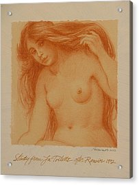 Study From La Toilette After Renoir Acrylic Print by Gary Kaemmer