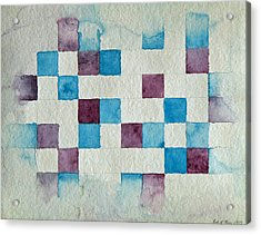 Study In Blue And Violet Acrylic Print