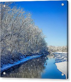 Acrylic Print featuring the photograph Study In Blue by Kendall McKernon