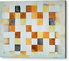 Study In Yellow And Gold Acrylic Print