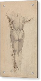 Study Of A Back Of A Female Nude Standing Acrylic Print