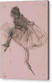 Study Of A Ballet Dancer Acrylic Print by Edgar Degas