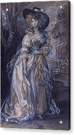 Study Of A Lady Acrylic Print