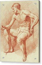 Study Of A Male Nude Acrylic Print