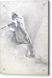 Study Of A Male Nude Acrylic Print