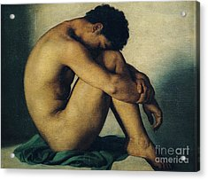 Study Of A Nude Young Man Acrylic Print
