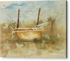 Study Of A Watering Tub Acrylic Print