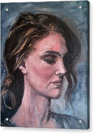 Study Of A Woman In Moonlight #1 Acrylic Print by Brian Kardell