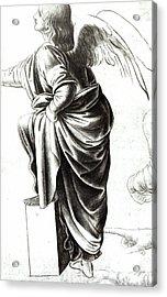 Study Of An Angel  Acrylic Print by Leonardo Da Vinci