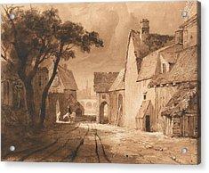Study Of Old Buildings Acrylic Print by Samuel Palmer